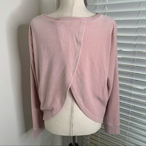 Victoria's Secret Pink Velour Partially Open Back